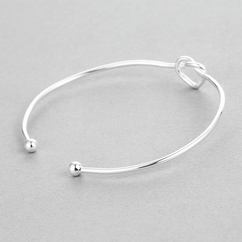 in s products silver heart sterling bangles one three women bangle bracelet