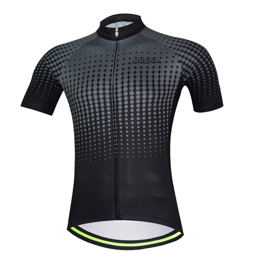 Aogda Black Cycling Shirt Men Summer Road Bike Jersey Short Sleeve Bicycle Clothing Breathable Polyester Maillot Ciclismo Pleasant In After-Taste