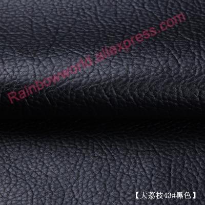 Tela de cuero de PU negro guijarro gigante de alta calidad y colores - Artes, artesanía y costura