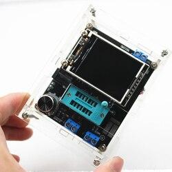 GM328 multi-uso Transistor Tester DIY Kit diodo capacitancia voltaje Meter PWM Square Wave generador de señal + DIY Acrílico caso