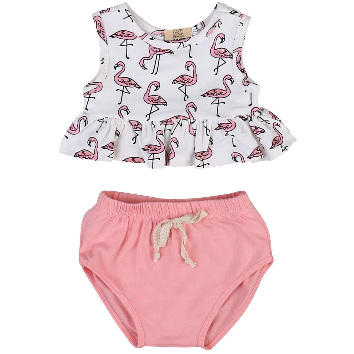 Baby Girl Clothes Set 2017 Hot Cute Baby Girls Clothes Cotton Tops Vest + Shorts Bottoms Outfits 0-18M Baby clothing sets платье для девочек baby girl clothes 2015 baby baby girls clothes