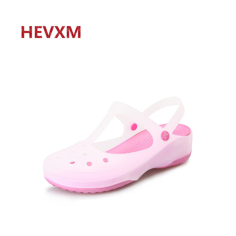 HEVXM Women Sandals 2017 Summer New Discoloration Candy Color Peep Toe Beach Valentine Rainbow Jelly Shoes Woman Wedges Sandals new women sandals low heel wedges summer casual single shoes woman sandal fashion soft sandals free shipping