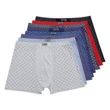 גברים של 95% במבוק סיבי תחתונים לנשימה mens מתאגרפים מכנסיים גברים תחתוני אופנה תחתונים בתוספת גודל 9XL, 11XL 5 יח\חבילה