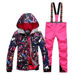 2018 New Special Offer Women Winter Snowboard Jacket Hot Sale Lady Ski Suit Clothes Sets Pants Windproof Breathable Polyester
