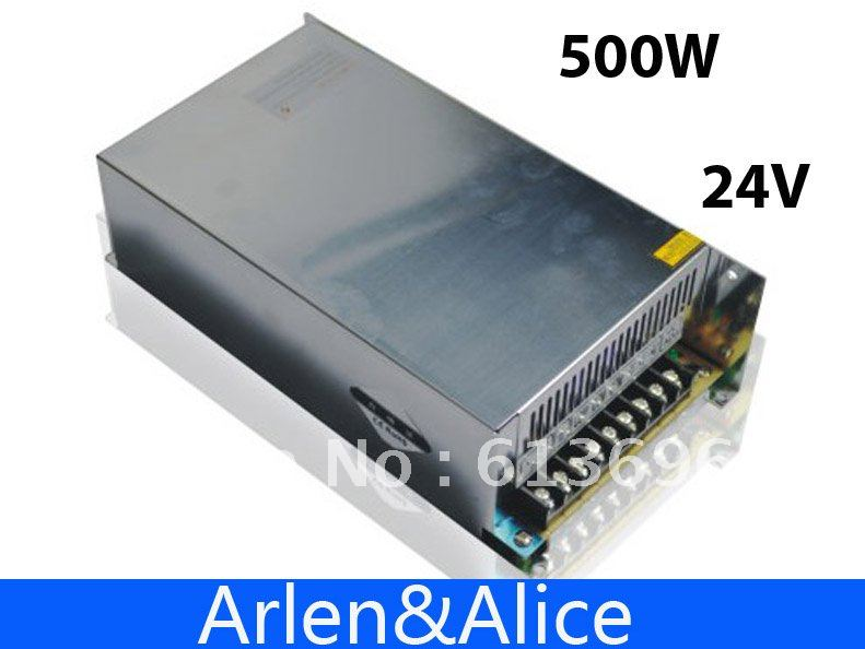 500W 24V 20A 220V INPUT Single Output Switching power supply for LED Strip light AC to DC best quality 12v 15a 180w switching power supply driver for led strip ac 100 240v input to dc 12v