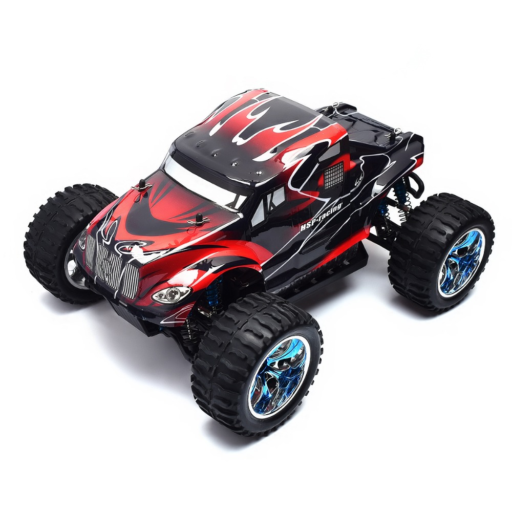 HSP Rc Car 1/10 Scale 4wd Brushless Off Road Monster Truck 94111PRO Electric Power Remote Control Car Similar HIMOTO REDCAT 02023 clutch bell double gears 19t 24t for rc hsp 1 10th 4wd on road off road car truck silver