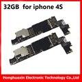 32 gb para iphone 4s original desbloqueado motherboard placa de sistema mainboard com chips icloud livre ios boa placa lógica de trabalho