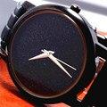 Классическая мода Часы Женщины Relógio Feminino Черный Циферблат Случайные Люди Кварцевые Наручные Часы Простой Элегантный Стиль Кожаный Ремешок Часы