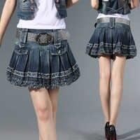 Women Fashion Sexy Lady Schoolgirl Mini Pleated Skirt Short Skirt female Plus size S M L XL XXL 3XL 16-89F