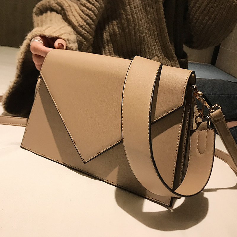European Fashion Casual Square Bag 2019 New High Quality PU Leather Women's Designer Handbag Simple Shoulder Messenger Bags