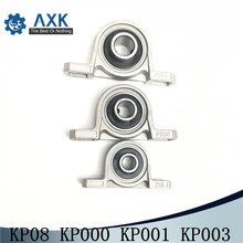 2pcs KP08 KP000 KP001 KP003 Zinc Alloy Diameter 8mm 10mm 12mm Bore Ball Bearing Pillow Block Mounted Support