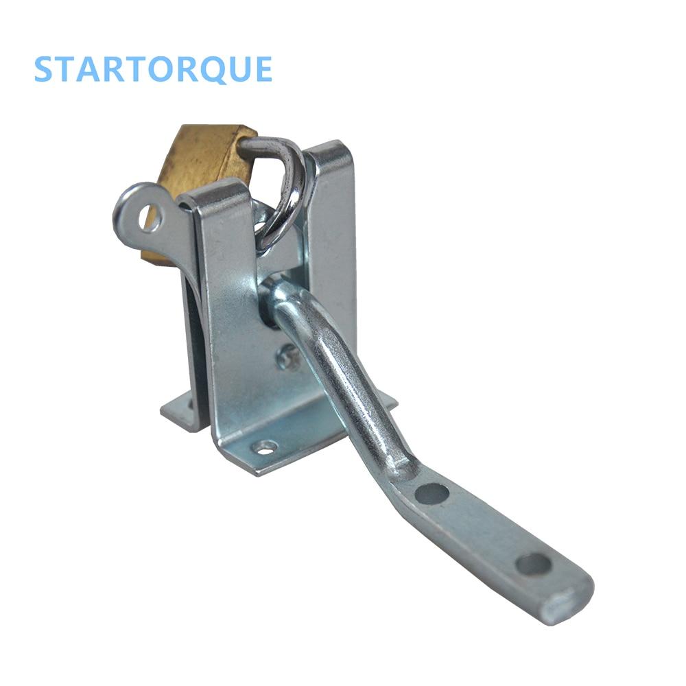 chessdew Electroplated Steel Hasp Latch auto Door lock for Garden Fencing Pasture Farm ourdoor hardware