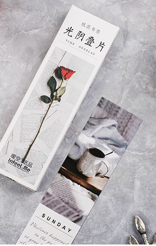 Time Picture Paper Bookmark(1pack=30pieces)