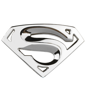 Image 4 - 3D 3M Chrome Emblem Auto logo Superman badge Metal Motorcycle accessories Car styling Funny Car Stickers
