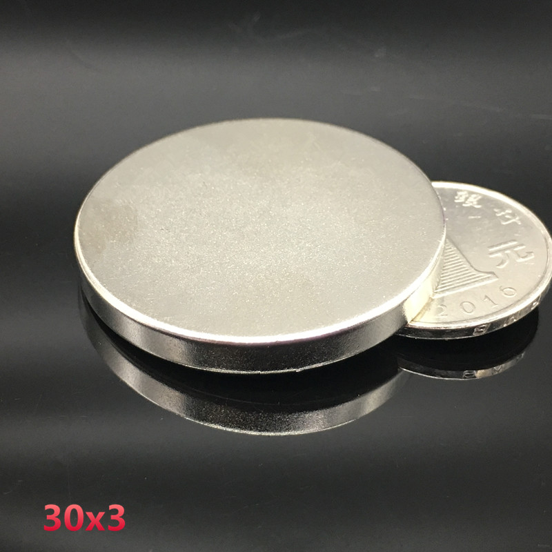 10pcs 30x3 mm neodymium magnet 30mm*3mm strong rare earth neodymium magnets 30*3 mm NdFeB permanent round magnetic 30x3mm wholesale 1pcs 30mm x 30mm craft model strong rare earth ndfeb magnet 30 30 mm neodymium n52 fridge magnets round sheet