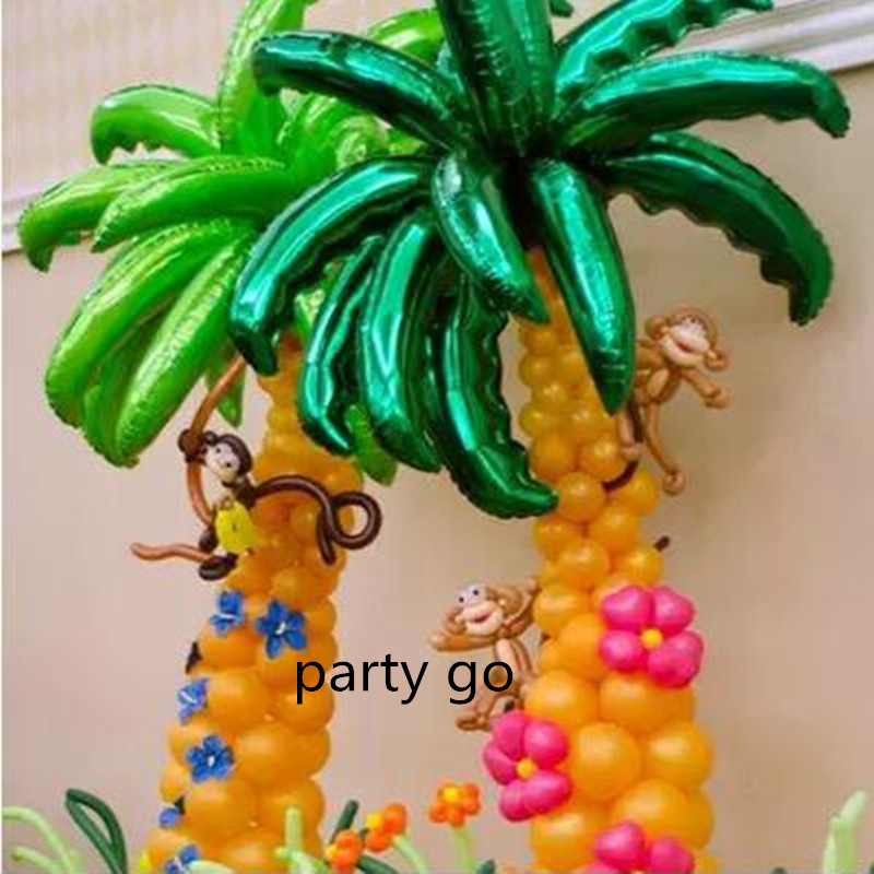10pcslot 36inch Coconut Tree Leaves Ballons Plants Summer Animal