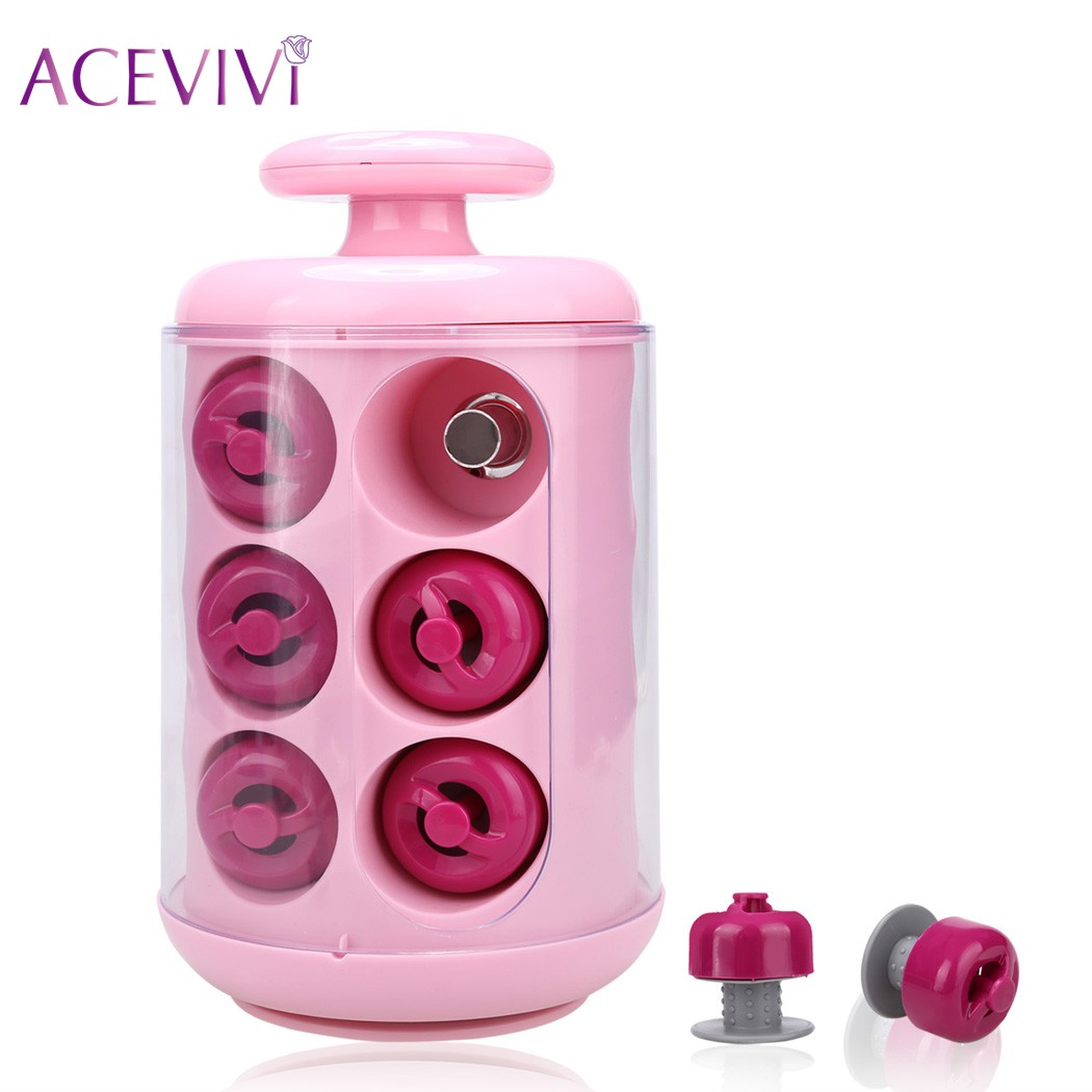 ACEVIVI Professional 12 Rollers Hair Curler Electric Curly Pods Fast Hest up For Quick Styling Hair Styling Tool UK US Plug electric hair styling tool electric adjustable corrugated waver hair curler
