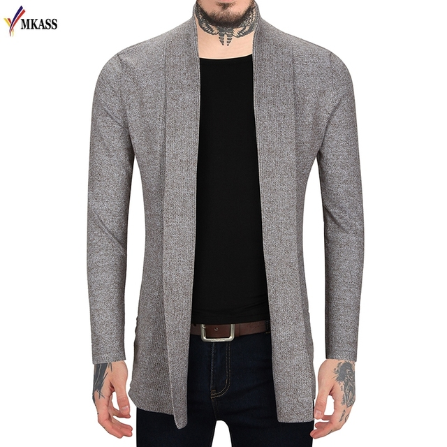 c8e7af84d7c MKASS 2017 Spring Autumn Mens Knit Cardigan Sweaters Men Knitwear trends  thin Sweater Slim Casual Brand