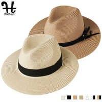 FURTALK Panama chapeau été soleil chapeaux pour femmes homme plage chapeau de paille pour hommes UV Protection chapeau femme 2019