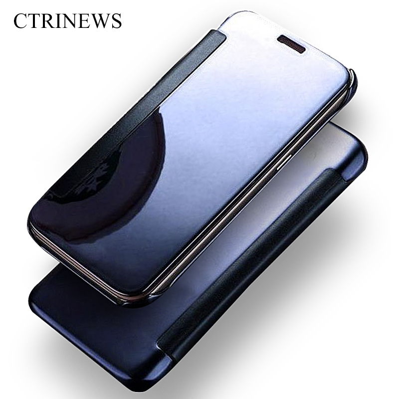 Buy clean view mirror pu leather pc case for Mirror iphone to pc