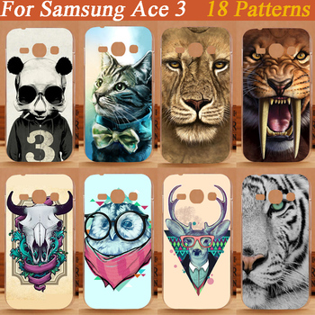 High Quality Painted diy colorful animals Cover Hard Case For Samgsung Galaxy Ace 3 III S7270 S7272 Protection Back Cases image