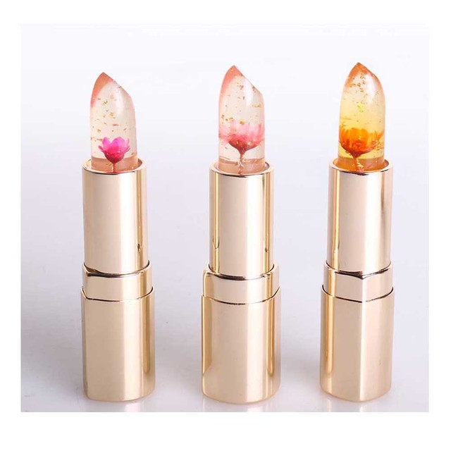 Hot 3 Colors Flower Jelly Lipstick Color Changeable Waterproof ...