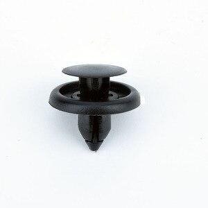 Image 2 - 50 個車のファスナーフィット 7 ミリメートル径穴黒プッシュリベットクリップ自動車ドアバンパーフェンダーカバートリムクリップ