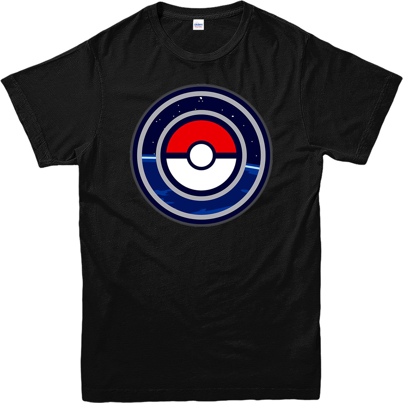 New Pokemon Go - GO Logo *Pikachu Popular Game Mens Black T-Shirt Size S To 3XL T-Shirt Short Sleeve Fashion T Shirt Top Tee