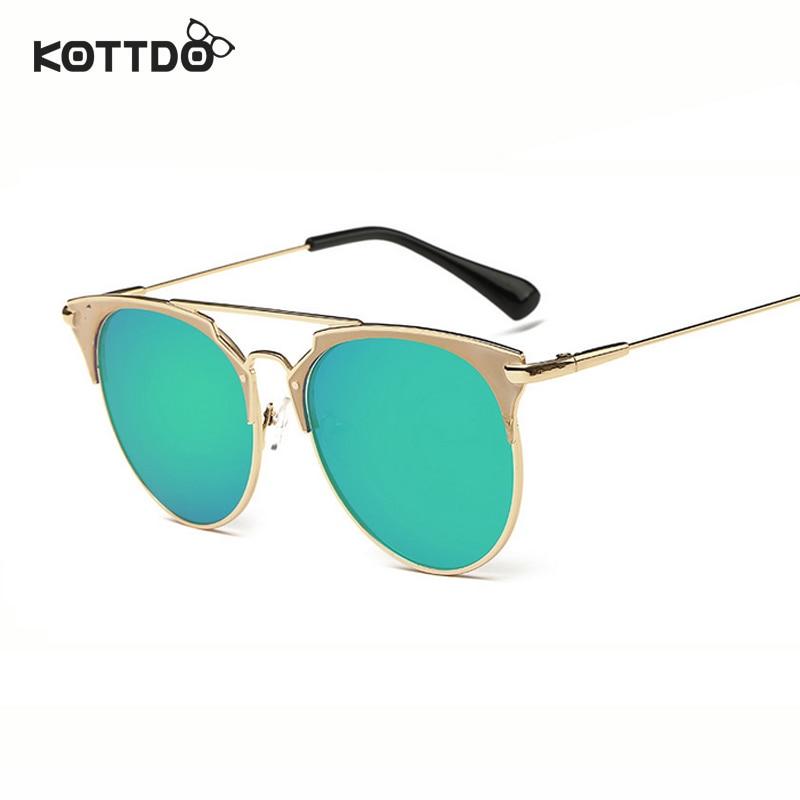 Runde Sonnenbrille mit halbem Rahmen Frauen Retro Vintage - Bekleidungszubehör - Foto 4