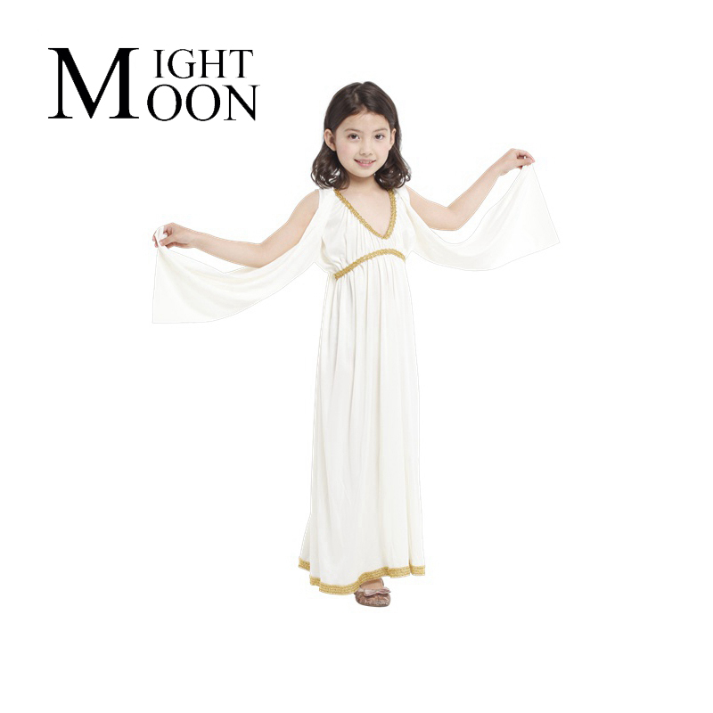 MOONIGHT Kids Girls Party Clothes Athena Princess Costume For Little Girls Retail Halloween Clothing