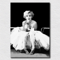 White Dress Marilyn Monroe Pictures For Living Room Decoration High Quality Canvas Art Unique Gift For
