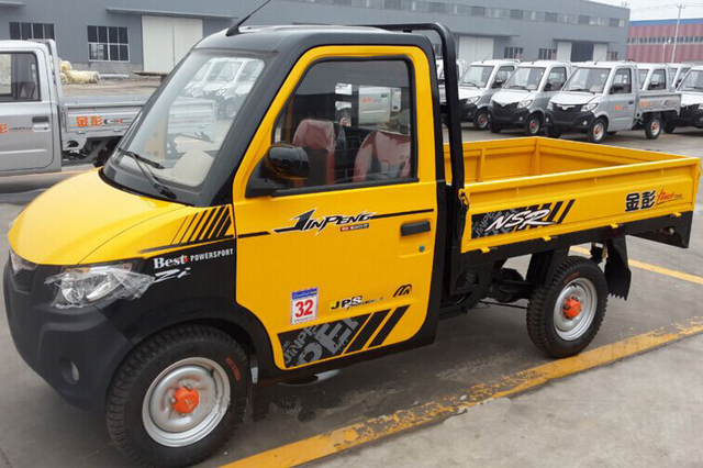 China Supplier Electric Four Wheel Battery Car Mini Cargo Truck Cars Pickup