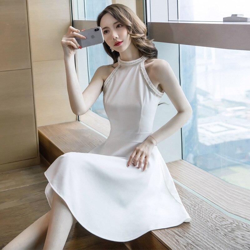 Plus Size Casual Summer Dress Women Halt Off shoulder Empire Office OL Ladies Dresses Streetwear White Big Swing Vestido Largo in Dresses from Women 39 s Clothing