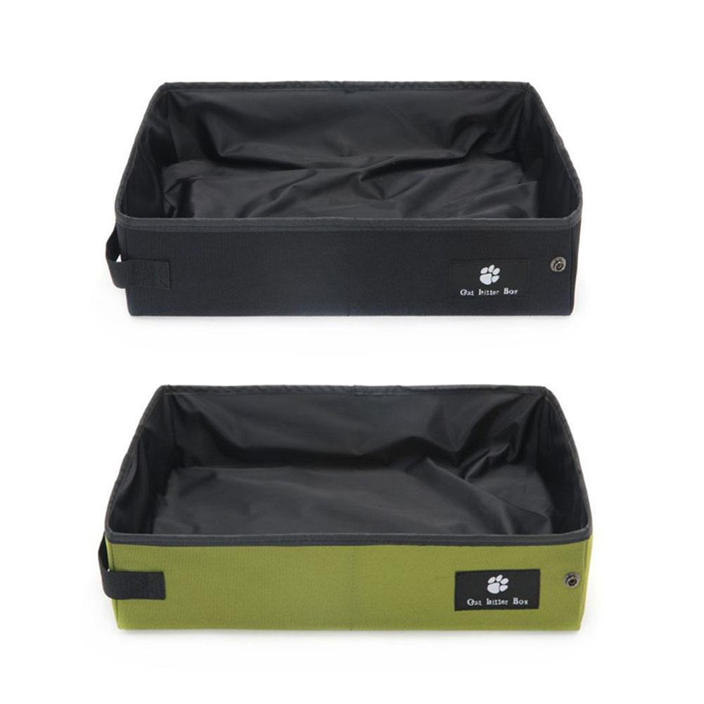 New Fashion High-grade Cat Litter Box Folding Waterproof Litter Carrier Toilet Outdoor Cat Litter Box