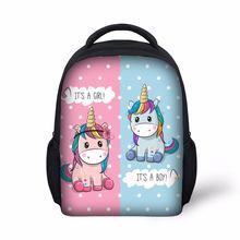 Детская школьная сумка светильник рюкзак для девочек с принтом