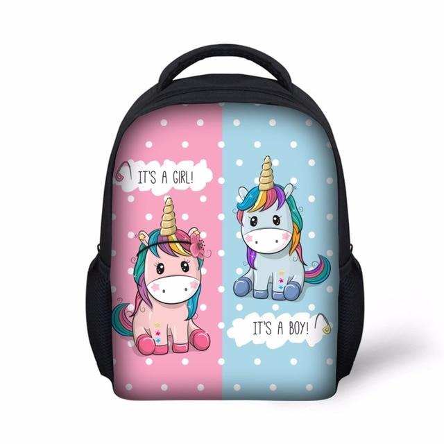 children School Bag light Weight Girls Backpack fancy Unicorn printing  backpack girls mochila escolar kindergarten bag for kids 5a1026801dd7c