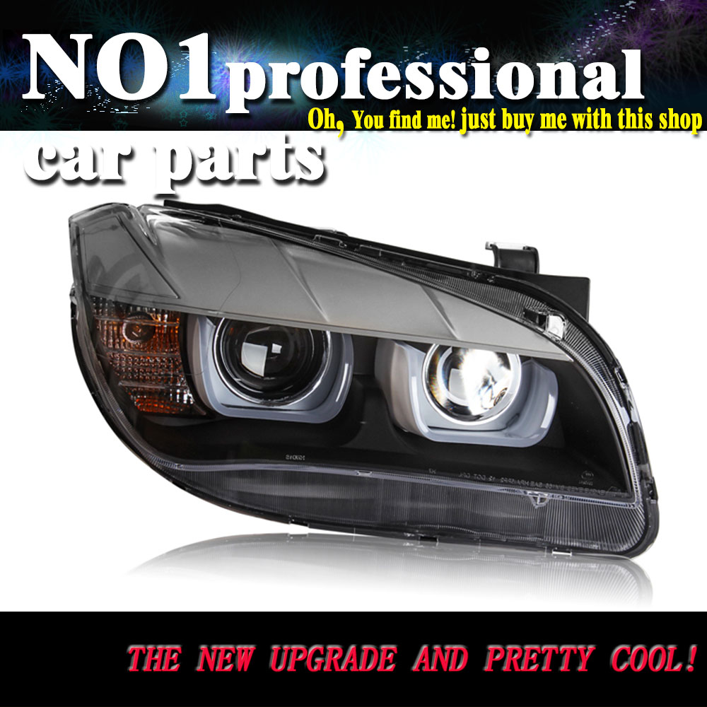Car styling 2013 2015 for bmw x1 headlights led head lamp drl front bi xenon
