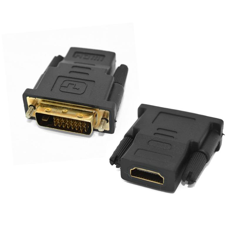 10pcs <font><b>DVI</b></font> <font><b>To</b></font> HDMI <font><b>Adaptor</b></font> Converter <font><b>DVI</b></font> 24+1 Male <font><b>To</b></font> HDMI Female Adapter Convertor Cable For XBOX 360 For PS3 For PS4 HDTV 1080p image