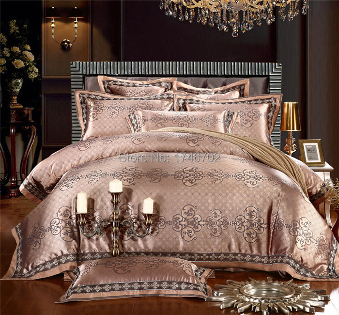 Luxury Jacquard Comforter Bedding Sets Gold Duvet Cover King Size Set Bedclothes Bed In From Home Garden On Aliexpress