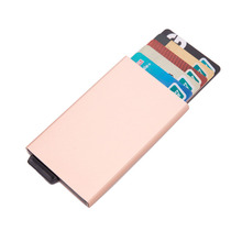 Wholesale Metal Card Holder RFID Aluminium Alloy Credit 2019 Newest Id Holders Anti-theft Automatic Wallet