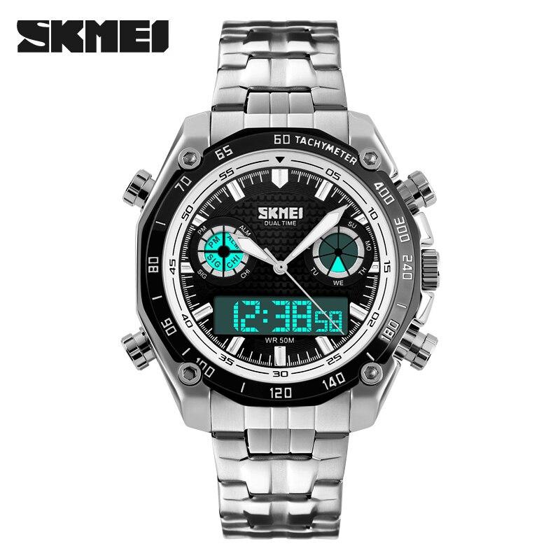 Men's Watch Quartz Hour Dual display Full Steel Wrist Watch 1