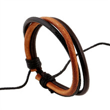 Free Shipping 2017 Personality Design Leather And PU Braided Bracelet for Women Fashion Jewelry