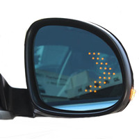 Side wing rear view mirror for VW volkswagen tiguan with blue wide angle led turn signal electric heating glass