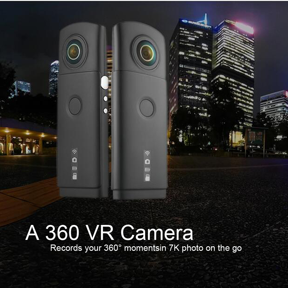 (1 PCS) Dual 4K Lens 360 degree panoramic camera support wifi app 7k photo and 3k Video recorder wide life Mini DVR Portable insta360 air 3k hd 360 camera dual lens panoramic camera compact mini vr camera for samsung oppo huawei lg andriod smartphone