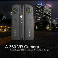 (1 PCS) Dual 4K Lens 360 degree panoramic camera support wifi app 7k photo and 3k Video recorder wide life Mini DVR Portable