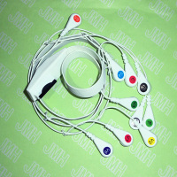 Compatible with Mortara EKG/ECG Machine the Holter 10 Lead AHA/IEC snap leadwires and cable.