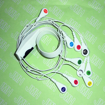 Compatible with Mortara EKG/ECG Machine the Holter 10-Lead AHA/IEC snap leadwires and cable. image