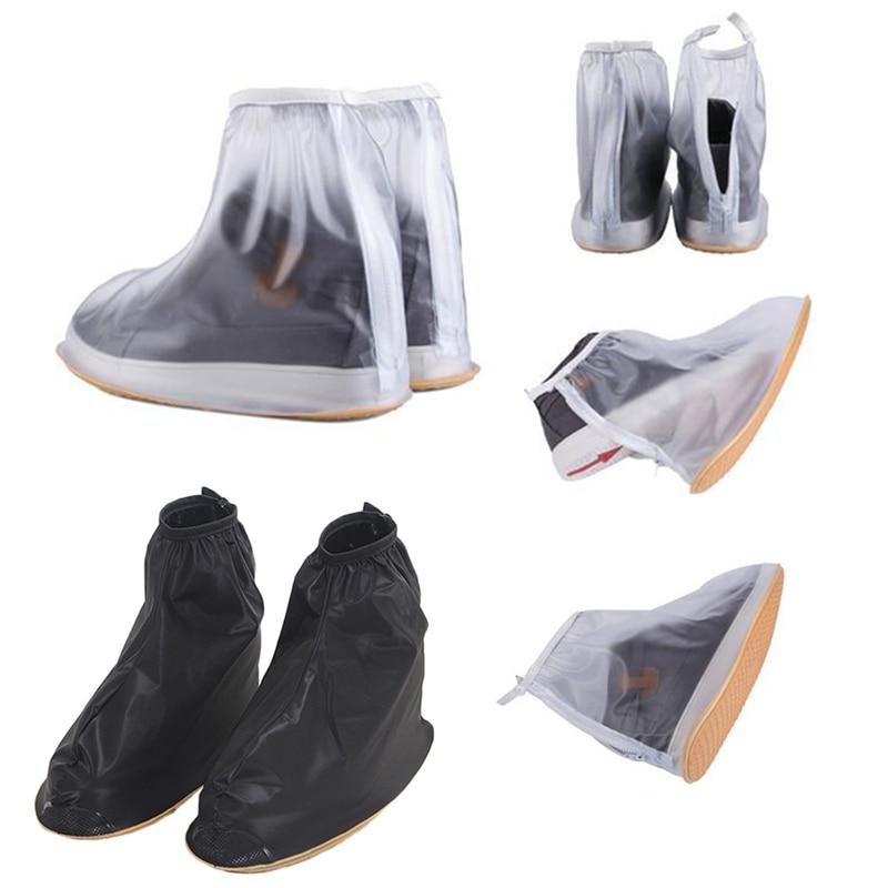 купить 1Pair Waterproof Rain Shoes Cover Reusable Boots Flat Overshoes Covers Slip Resistant по цене 394.39 рублей