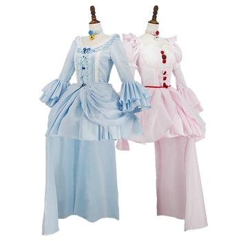 [STOCK]2018 New Anime NEKOPARA Vanilla Chocolat Lolita Dress Uniform Outfit Cosplay Custume+Headwead For Halloween Free Shipping