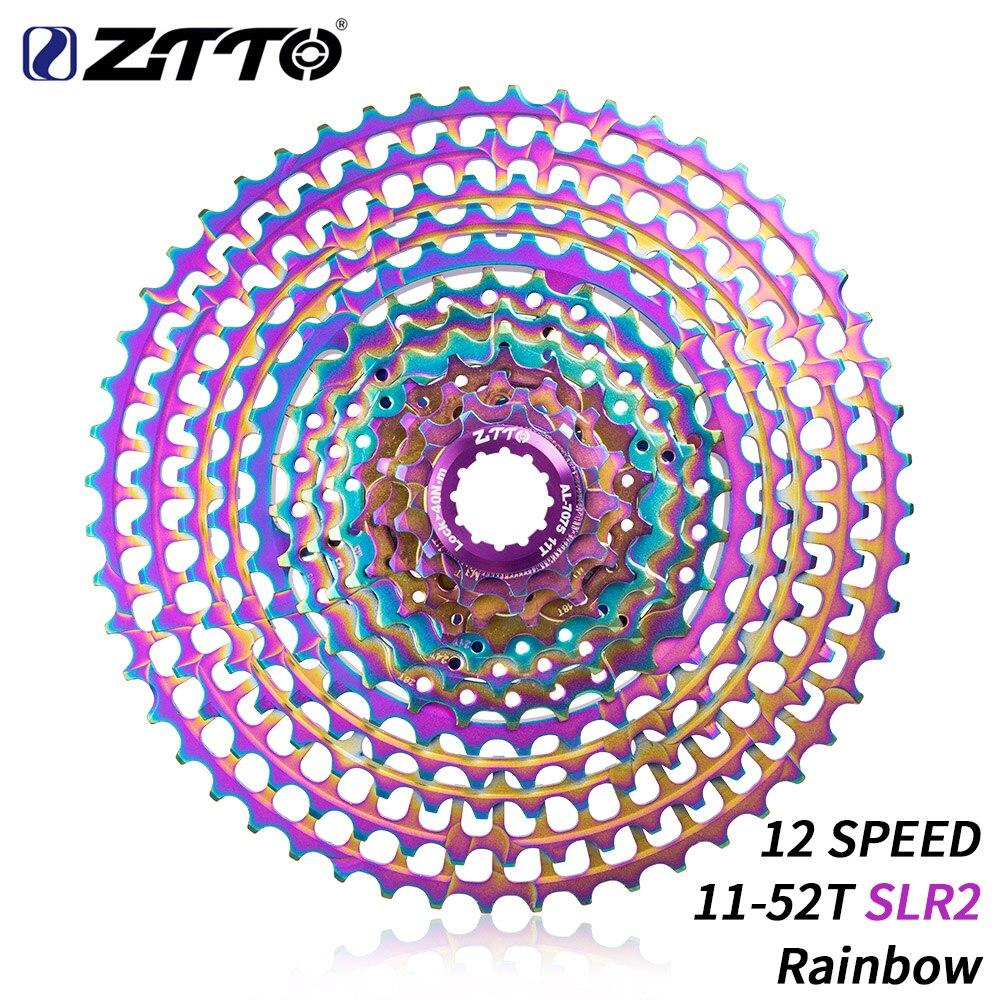 ZTTO 12 Speed 11 52T SLR Colorful Bicycle Ultralight CNC Cassette MTB 415g 12v Sprocket k7